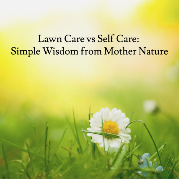 Lawn Care vs Self Care: Simple Wisdom from Mother Nature