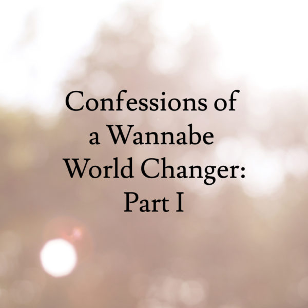 Confessions of a Wannabe World Changer
